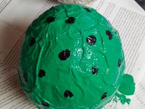 DIY dinosaur egg.