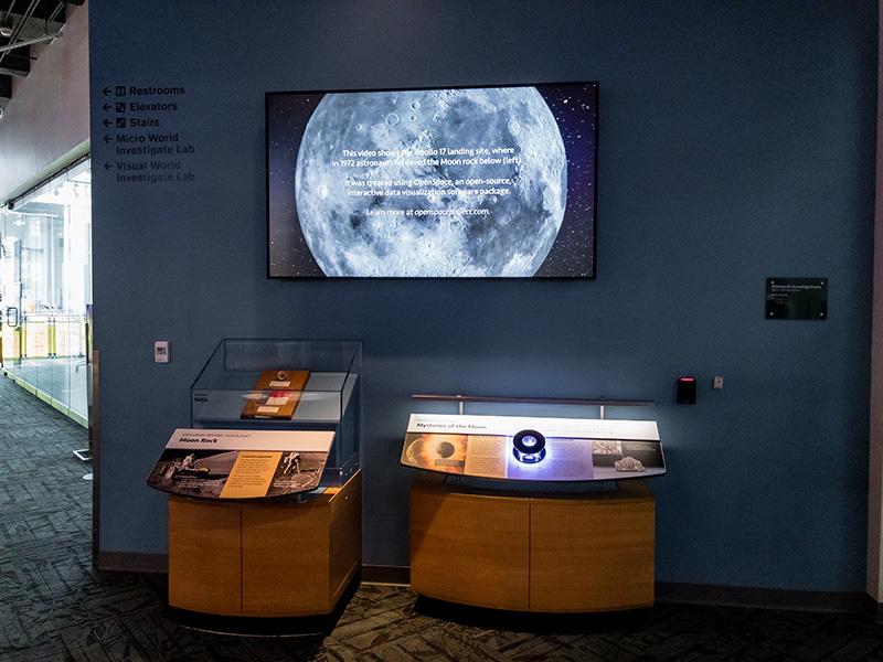 Lunar Meteorite exhibit