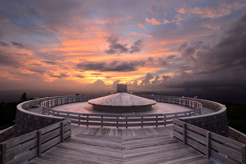 Cloud cover over the highest point in Georgia – Brasstown Bald Recreation Area