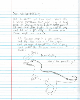 Rhett's letter.