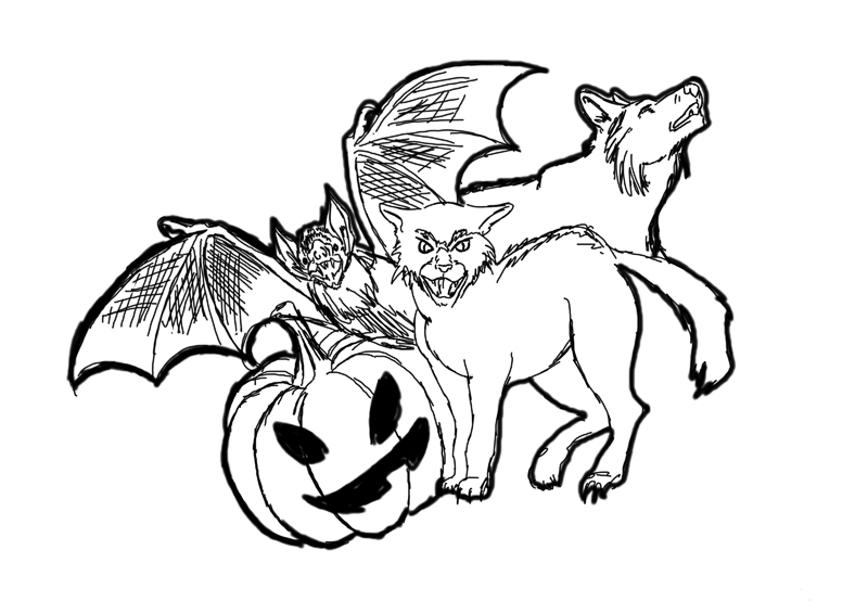 Halloween Guess-a-Sketch drawing