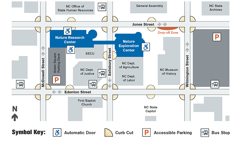 NCMNS Accessibility Map