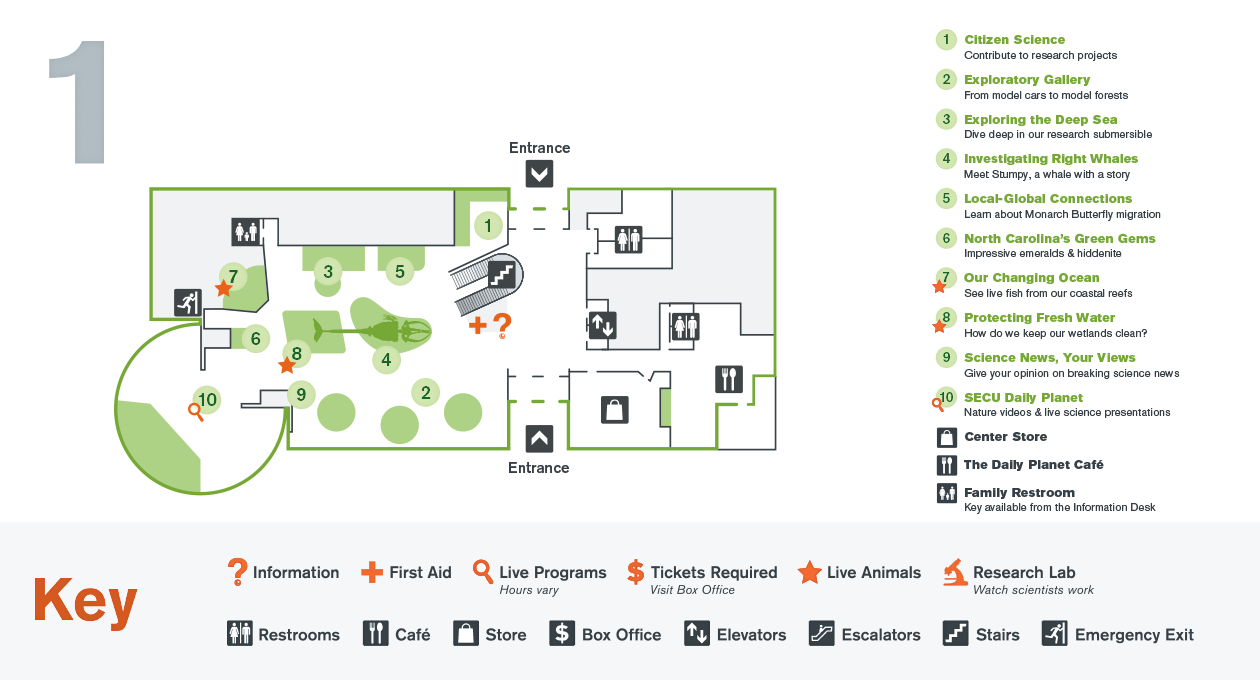Nature Research Center Map   First Floor