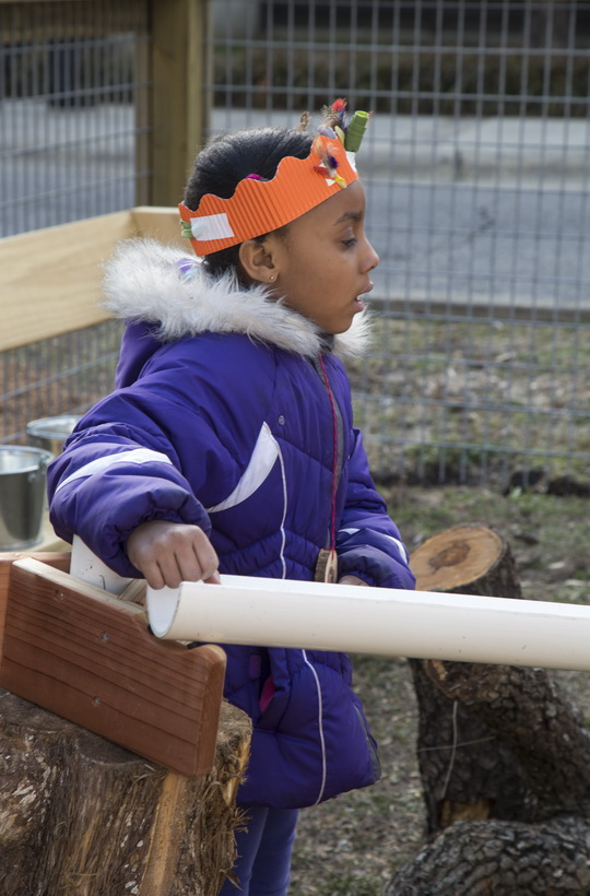 Outdoor nature play and discovery is the focus of the Nature PlaySpace.