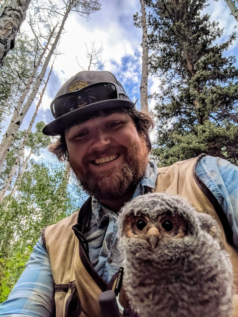 Scott Yanco with an owlette.